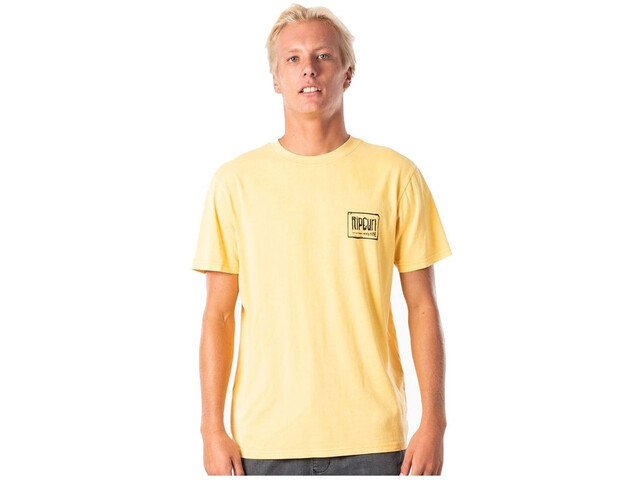 Rip Curl Native Glitch Tee Men washed yellow